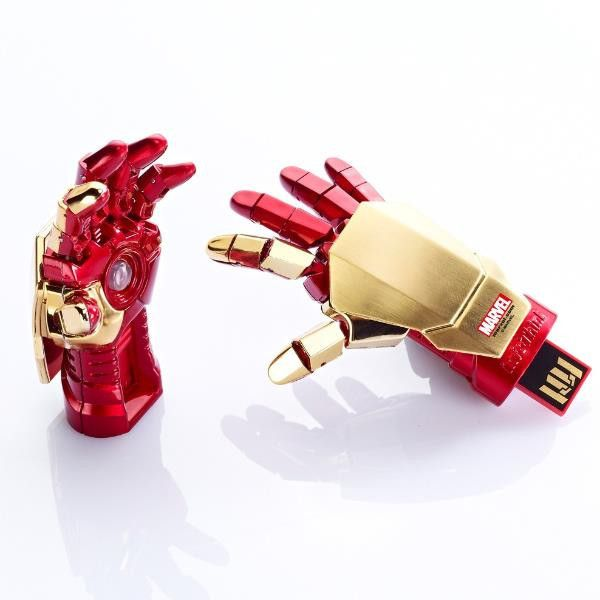 Iron Man 3 8GB USB Flash Drive Gauntlet with Repulsor Beam Blaster Official Licensed By Marvel, hand, fist
