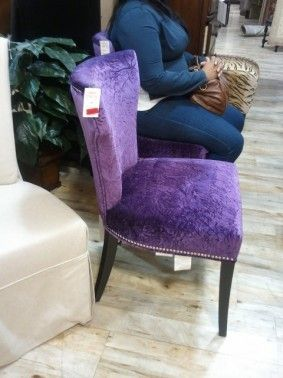 Would Love To Get My Hands On 6 Of These Find This Pin And More Purple Dining Chairs