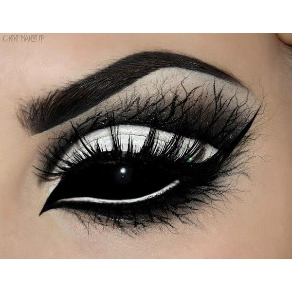 Black Eyes ❤ liked on Polyvore featuring beauty products, makeup, eye makeup and eyes
