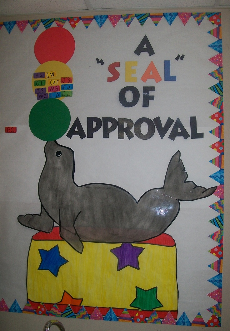 """Seal"" of Approval behavior chart"