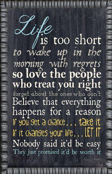 'Life Is' Framed Wall Art