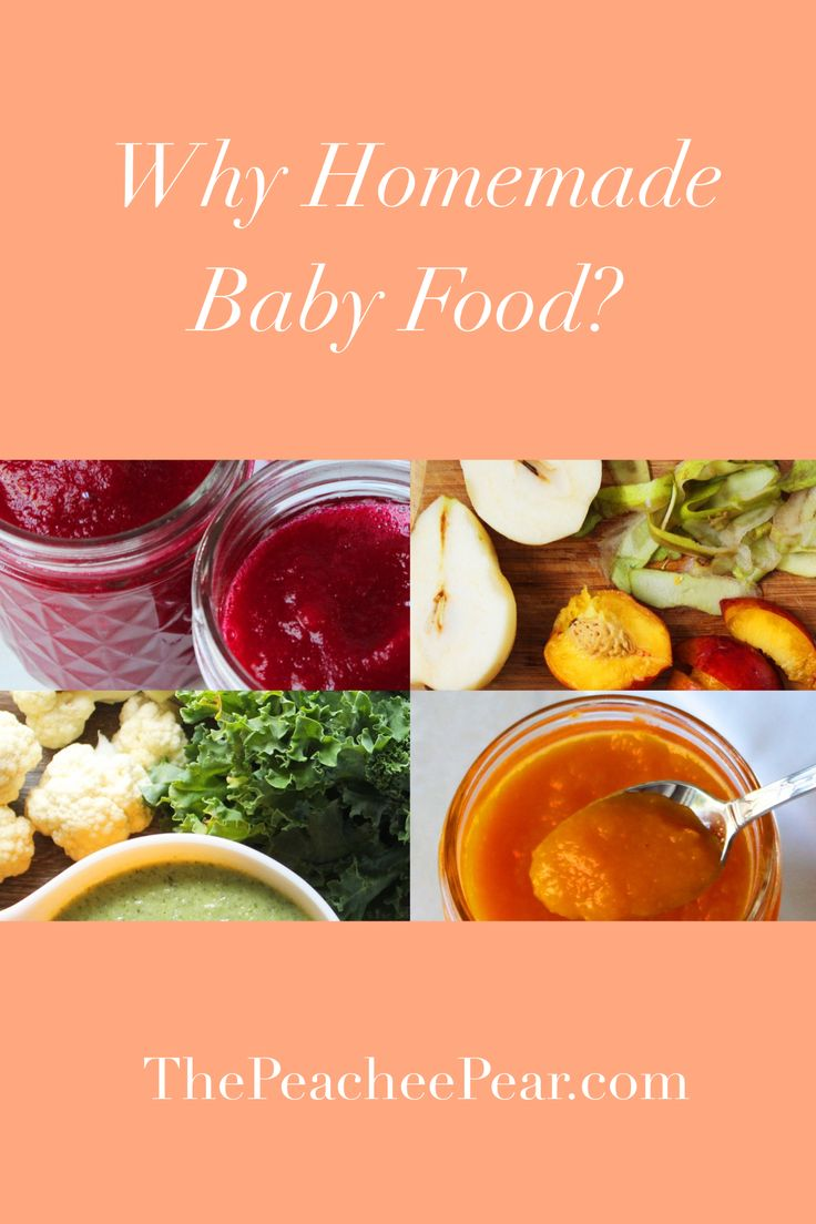 Getting ready to start introducing solids to you baby? Ready this post in regards to why homemade baby food and purees could be the best option.  via @ThePeacheePear