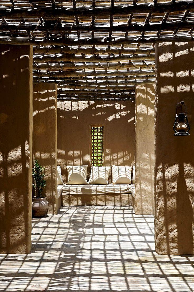 Entrance pathway, Six Senses Spa Zighy Bay, Oman www.sixsenses.com