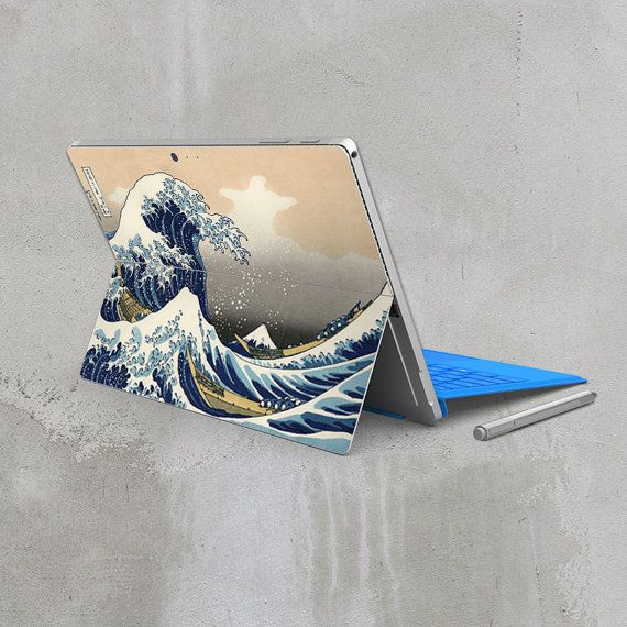 Surface pro 4 sticker wave microsoft surface back cover skin tablet decal