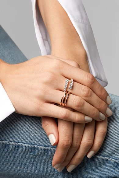 Anita Ko - Twist 18-karat Rose Gold Diamond Ring - 6