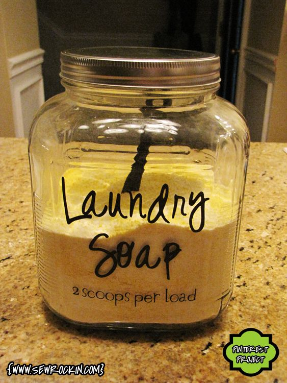 DIY Laundry Detergent (I already use a slightly different recipe, but I LOVE the container!)