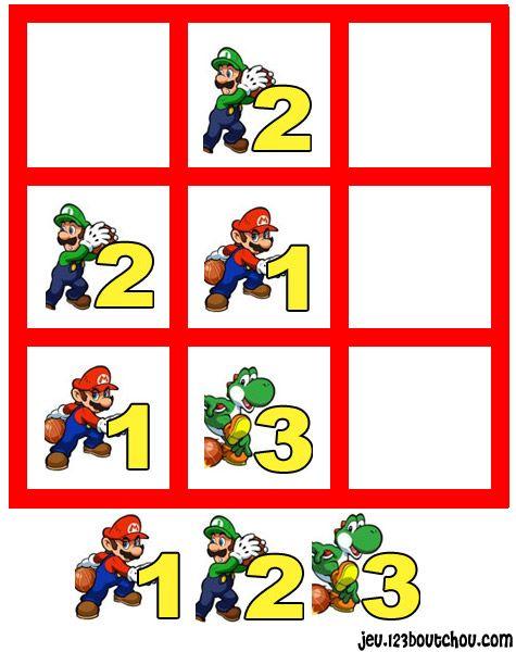 jeu de sudoku 'Grille sudoku Facile mario n° 1' pour enfant a imprimer gratuit de 0 à 5 ans - assistante-maternelle.biz tous les conseils
