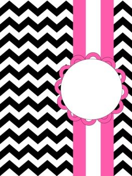 Chevron Printable Binder Covers