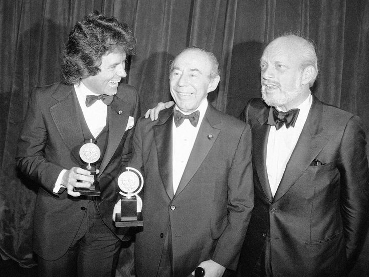 """Jack Hofsiss In 1979 Jack Hofsiss (September 28, 1950-September 13, 2016) (pictured, left, with Richard Rodgers and Hal Prince) became the youngest man, at that time, to win the Tony Award for best direction, in his very first outing on Broadway, """"The Elephant Man."""" Hofsiss also directed a TV version of """"Elephant Man,"""" a TV movie of """"Cat on a Hot Tin Roof"""" starring Jessica Lange, and the Jill Clayburgh film """"I'm Dancing As Fast As I Can."""""""