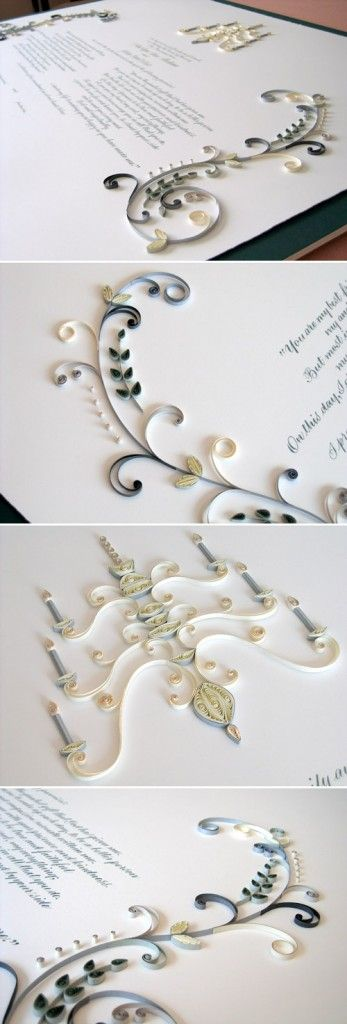 quilled marriage certificate ann martin all things paper 2 347x1024 Pretty in Paper. Quilling for Your Wedding