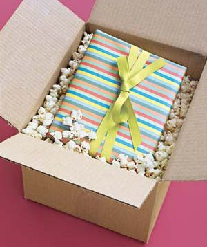 this would be so fun to receive a gift in, brody would surely eat the stale popcorn