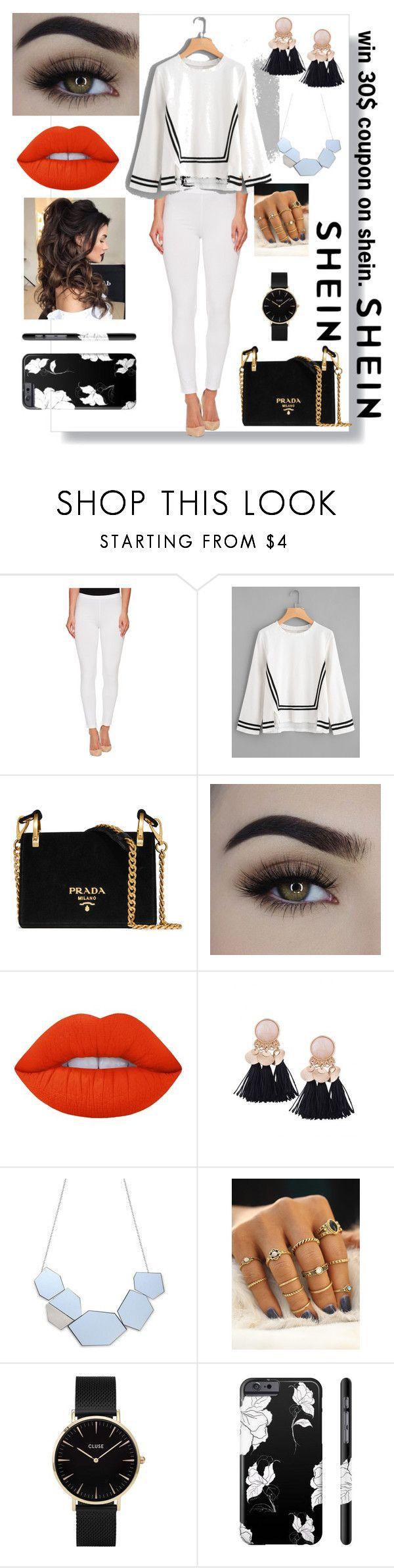 """""""1 winner will win 30$ coupon on shein"""" by aura-helena ❤ liked on Polyvore featuring HUE, Prada, Lime Crime and CLUSE"""