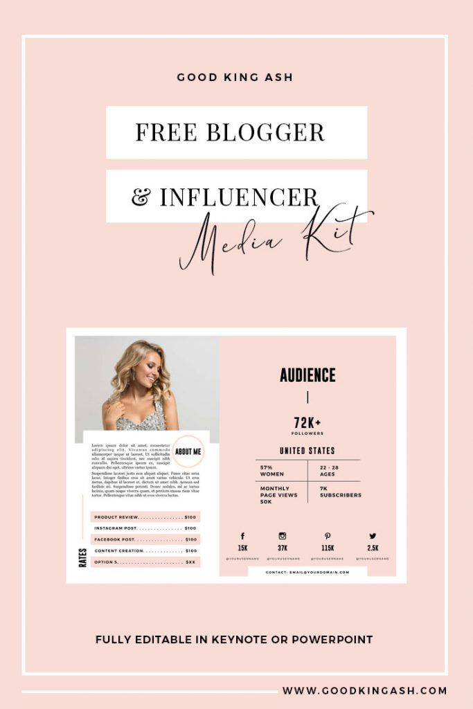 Free Blogger Media Kit Template Media Kit Template Blogger