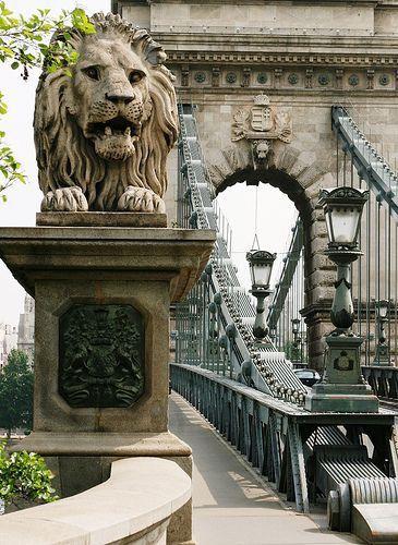 Chain Bridge, Budapest, Hungary - June 2017