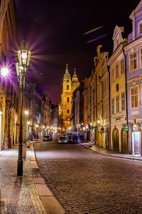 Prague by night   The Lightorialist - Prague Street By Night