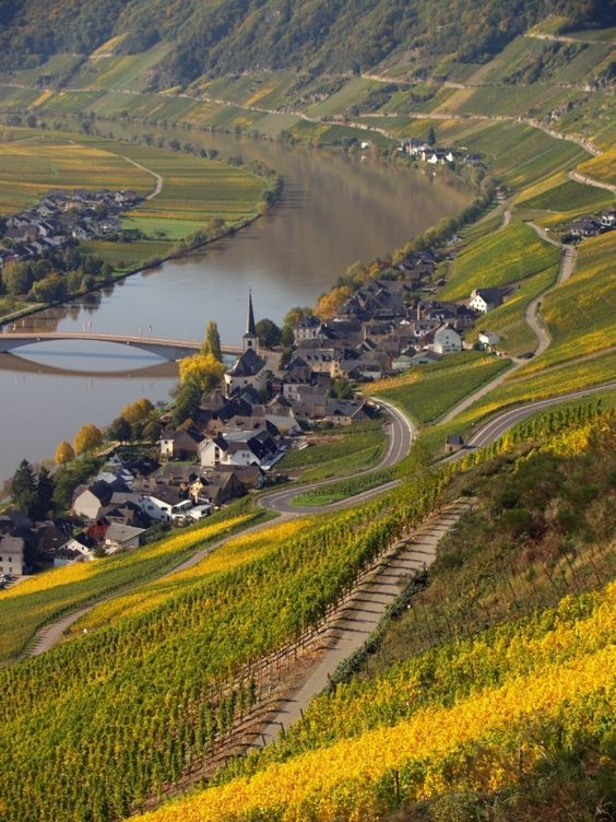 The Mosel River in Germany.