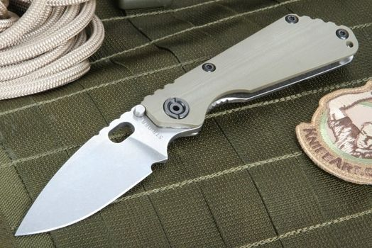 Strider SNG CC Ranger Green Stone Washed Folding Knife