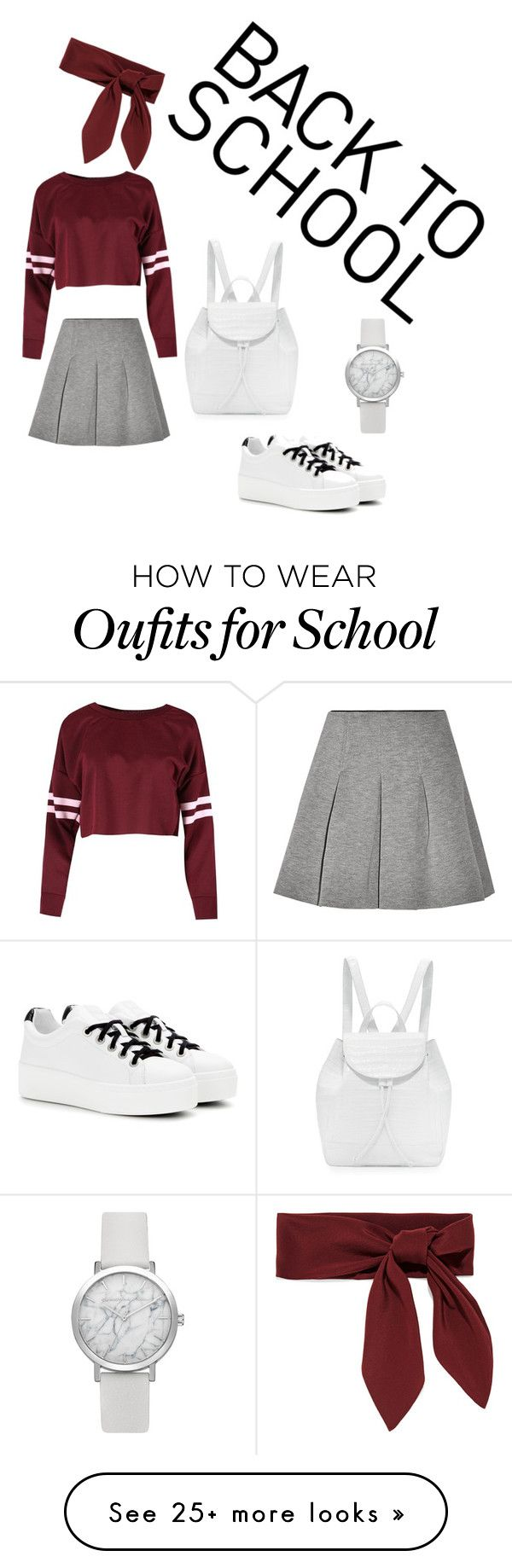 """Back to school"" by bea23-93 on Polyvore featuring T By Alexander Wang, Kenzo, Nancy Gonzalez and Chloé"