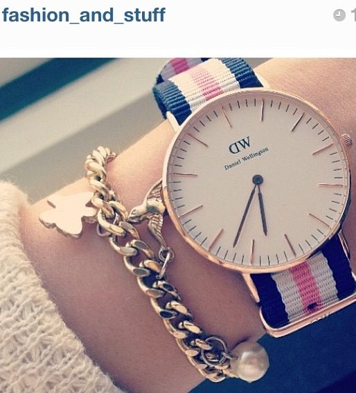 Daniel Wellington watches so simple and beautiful. Butterfly bracelet -Watches and bracelets