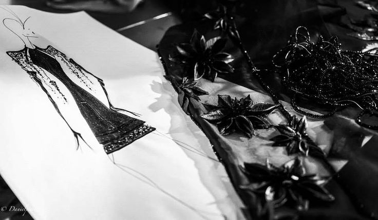 ´Depoorter workshop embroidery and couture sketches of the next collection presentation Paris and Brussels in 2016 …