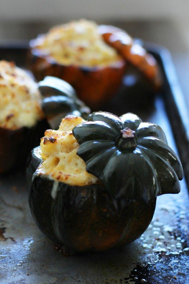Top 50 Halloween Recipes... White cheddar stuffed acorn squash