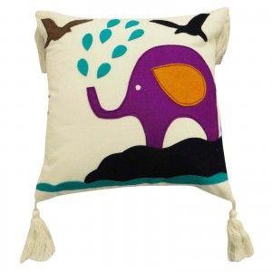 "Animal Patchwork Designer White Cotton Cushion Cover 30cm Pillow Case throw 12"""