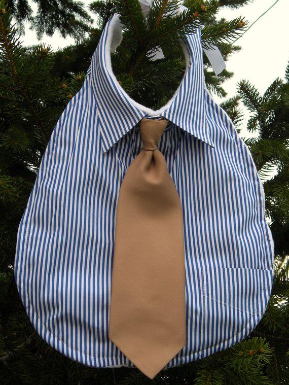 Upcycled Men S Dress Shirt Bib By Thegreensister On Etsy