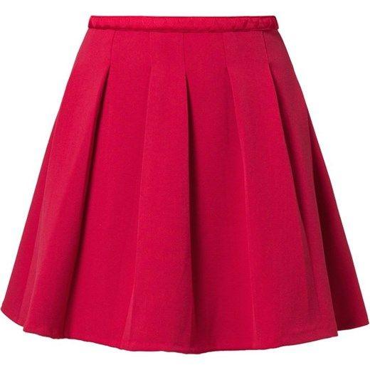 NAF NAF Spódnica plisowana czerwony zalando  elastan