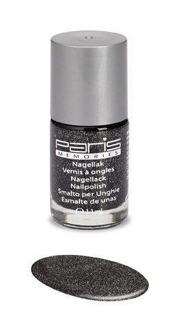 zwart met zilveren glitter nagellak paris memories 255