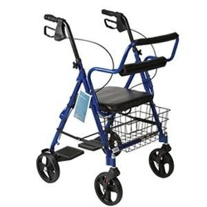 Roscoe Wheeled Walker and Transport Chair (Transport Rollator)