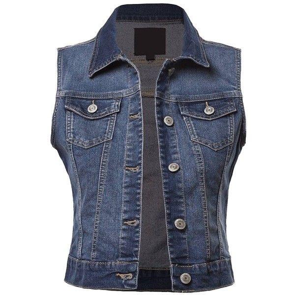 BEKDO Womens Basic Solid Denim Vest ($23…