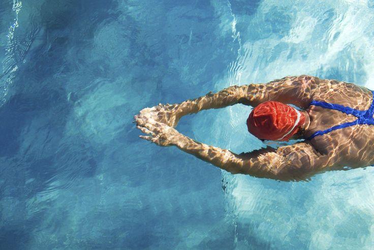Piscina aberta para nado livre no Sesc Santo Amaro