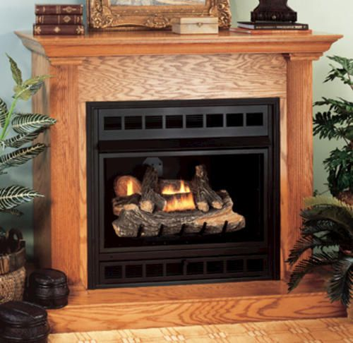 32 Quot Remote Control Natural Gas Fireplace At Menards