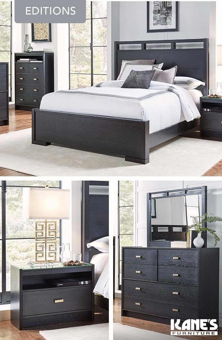 Editions King Bedroom With Panel Headboard Nightstand Casual Chic - Glass tops for bedroom furniture