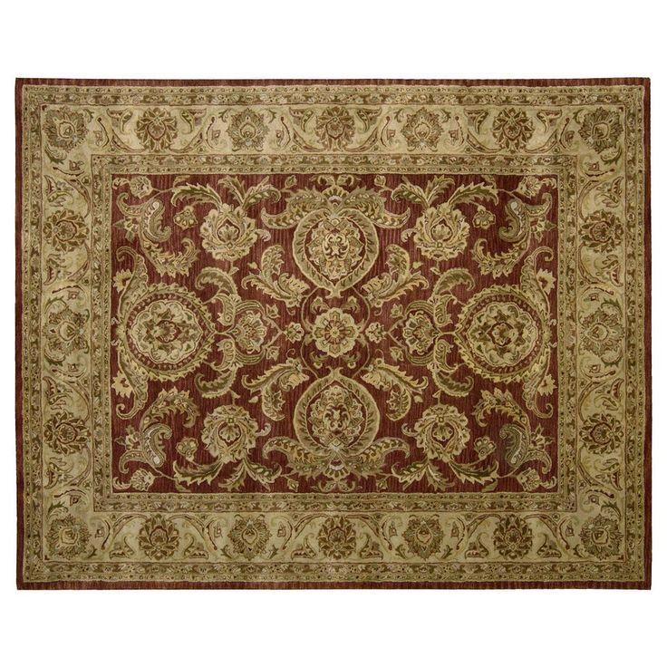 Nourison Jaipur Traditional Framed Floral Wool Rug, Brown