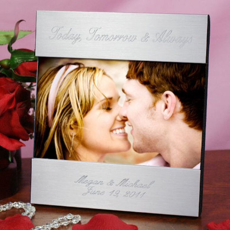 Personalized Engraved Love Silver Picture Frame - Gifts Happen Here