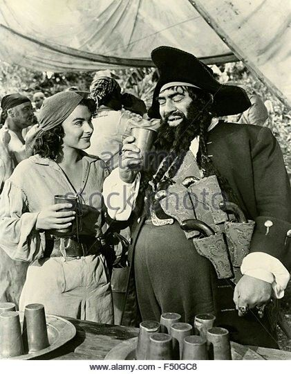 """Jean Peters y Thomas Gómez en """" la mujer pirata """""""