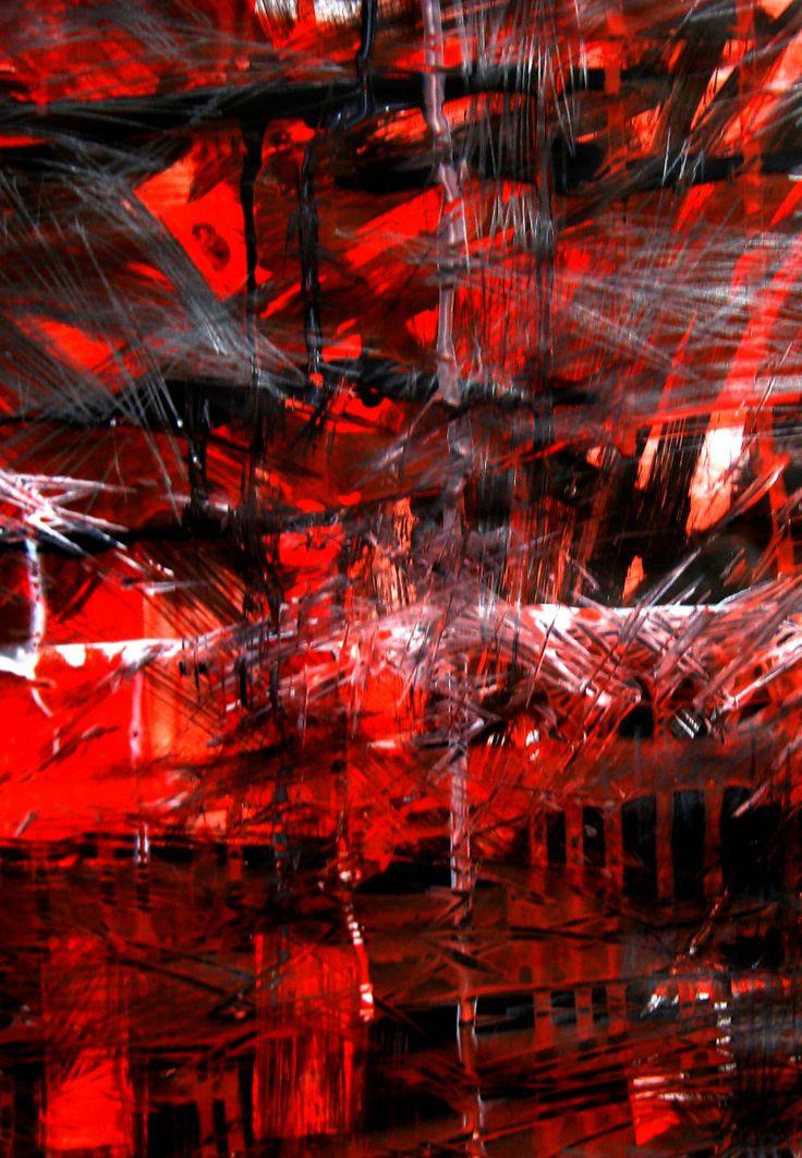 La Passion. Acrylique sur papier, 40X70 cm. 2011.