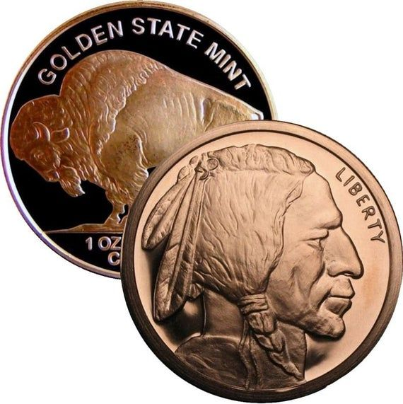 AMERICAN INDIAN SERIES DESIGN 1-1oz COPPER COIN// ROUND