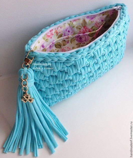 Женские сумки ручной работы. Вязаный клатч