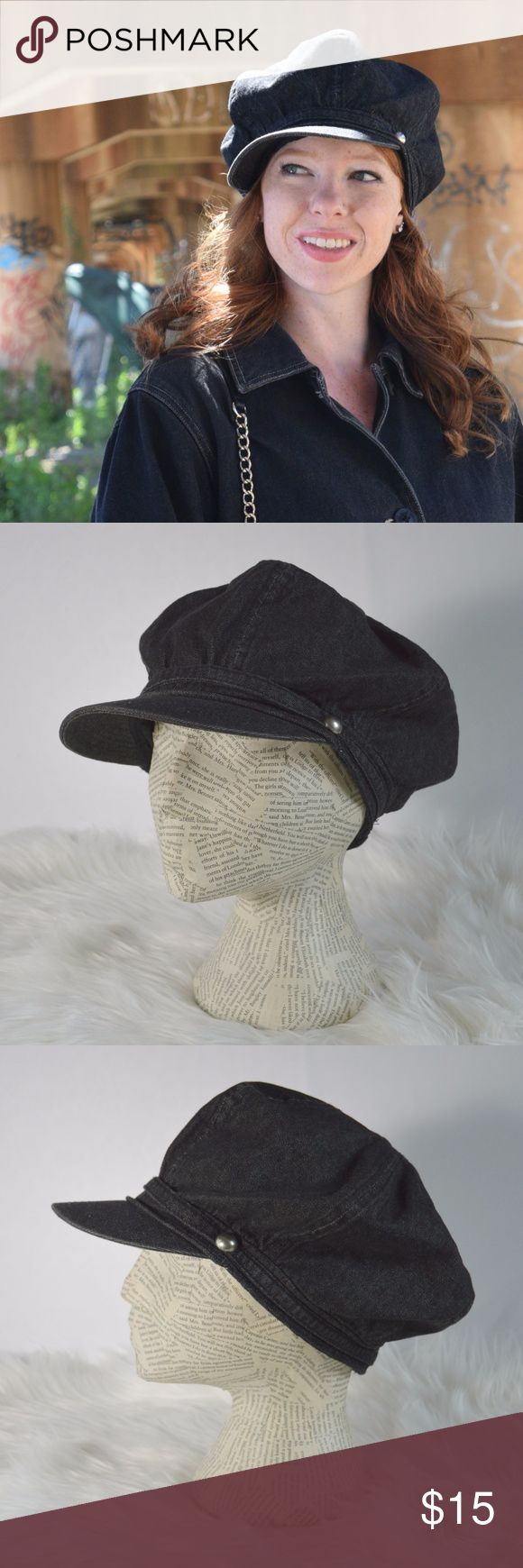 Denim Page Boy Hat Complete your look with this adorable (fully lined) denim page boy boutique style hat.  Brand: Boutique  Size: OSFM Color: Dark Wash Denim (blue/gray) Fabric: cotton blend Imported Excellent Used Condition  Reasonable Offers Welcome! Bundle and Save on Shipping! Boutique Accessories Hats