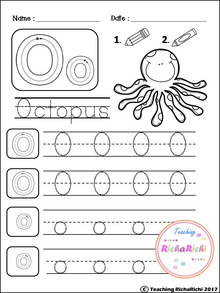 Alphabet Trace and color for kindergarten and pre-k | TpT FREE ...