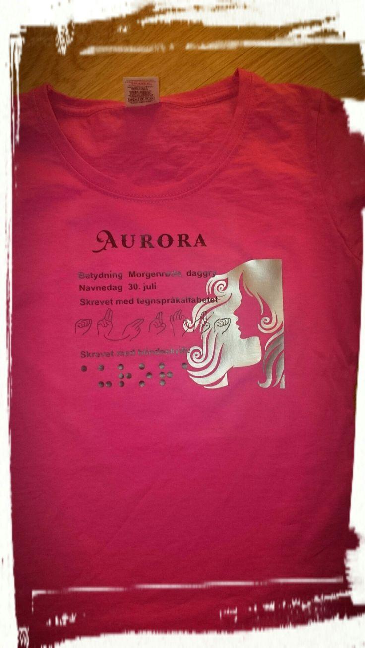 Vinyl print on a t-shirt