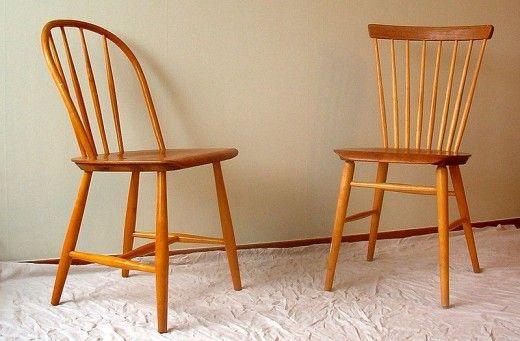 Even these relatively clean-lined and simple Swedish Windsor chairs would be harder to repair.  Image courtesy Wikimedia Commons.