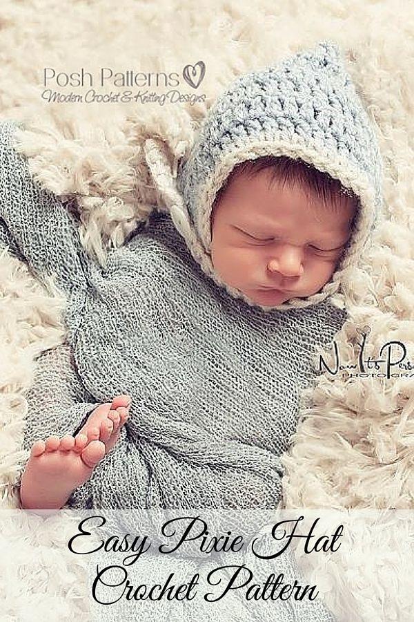 33 best Bonnet & Pixie Hat Patterns images on Pinterest | Knit ...