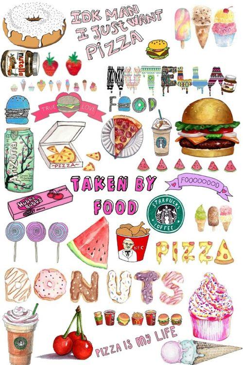 Картинка с тегом «food, pizza, and starbucks»