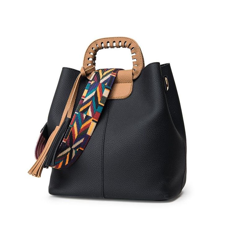 Handbag Tote Colorful Strap Leila 3 colors – Floral Cat