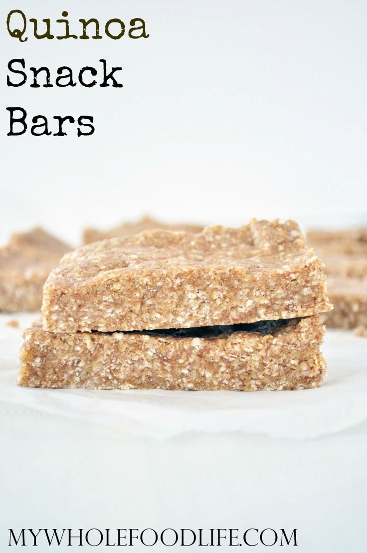 Super Healthy Quinoa Granola Bars. No bake, vegan, gluten and grain free, and perfect for snacking! Use this recipe as a base, to create your own bars.