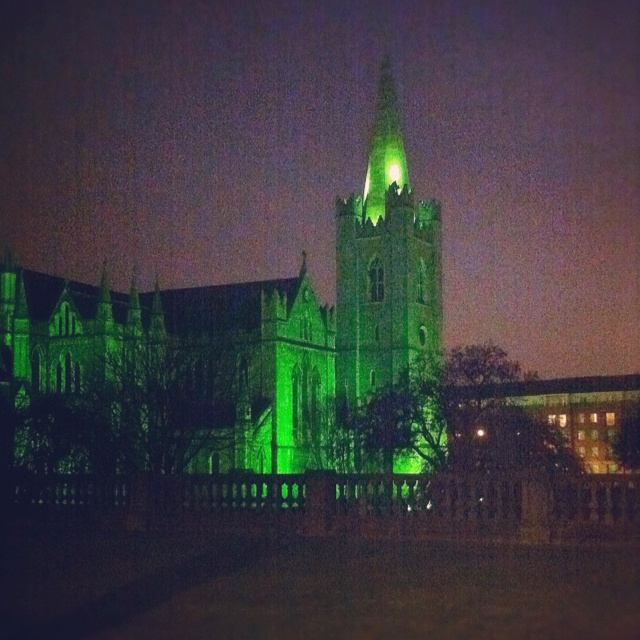 St Patricks Cathedral in Dublin, all set for the festivities.