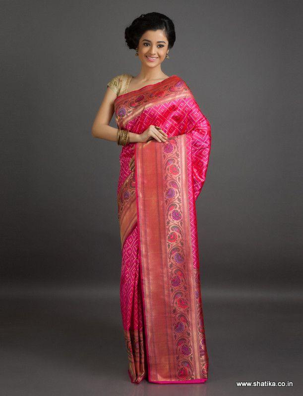 Akansha Brocaded Bel #Pattern #Banarasi #ShaluSilkSaree